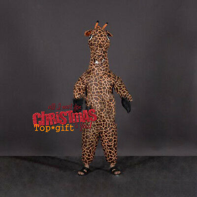 Inflatable Giraffe Mascot Costume Adult Dress Animal Outfit Parade Party - Parade Costumes