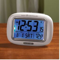 Big Screen Atomic Clock, Large Easy To Read Face Displaying Time, Day And Temp