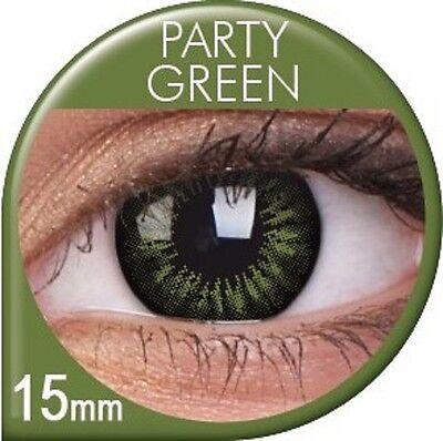 Farbige grüne Kontaktlinsen Big Eyes Party Green ohne Stärke farbig grün Manga
