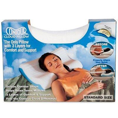 Contour Cloud Foam Bed Pillow Aligns Neck, Head & Spine for Cervical Support Foam Bed Pillow