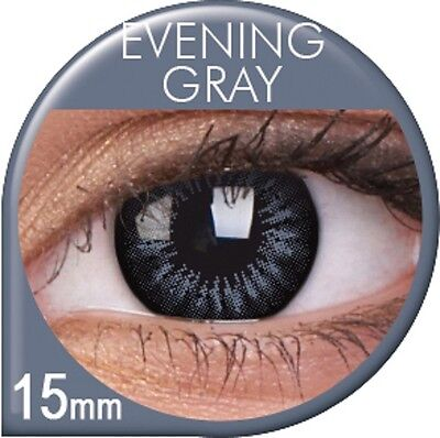 Farbige graue Big Eyes Kontaktlinsen mit Stärke Evening Grey Circle Lens Puppe