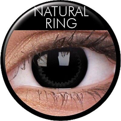 Farbige Kontaktlinsen schwarze Big Eyes Natural Ring Große Augen Puppenaugen