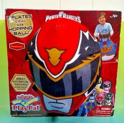 Brand NEW Power Rangers Megaforce Inflatable Hop Bounce Playpal Ball Red Ranger
