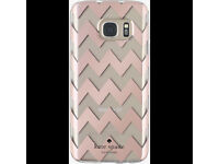 Brand New Kate Spade new york - Hardshell Clear Case for Samsung Galaxy S7-Clear/Chevron Rose Gold