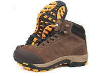 Mens S24 Leather Safety S3 Composite Toe Cap Vibram Sole Work Shoes Boots