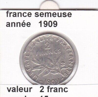 BF 3 )pieces de 2 franc  france  1909