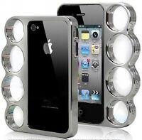 Bumper iphone 4 & 5 plastic chrome + péllicule d`écran