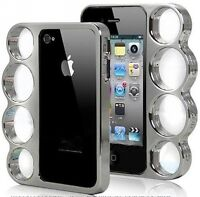 Bumper iphone 4 & 5 plastic chrome (style poing americain)-