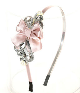 HR160VO-Crystal-Ice-Bead-RhineStone-RIBBON-Loud-Fashion-Hair-Piece-Headband