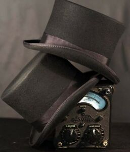 Victorian-Edwardian-City-Gent-Steam-punk-100-Black-Woolfelt-High-Topper