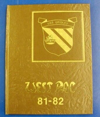 USN US Navy Cruise Book USS Gridley CG 21 WestPac 1981-82 Excellent Rare