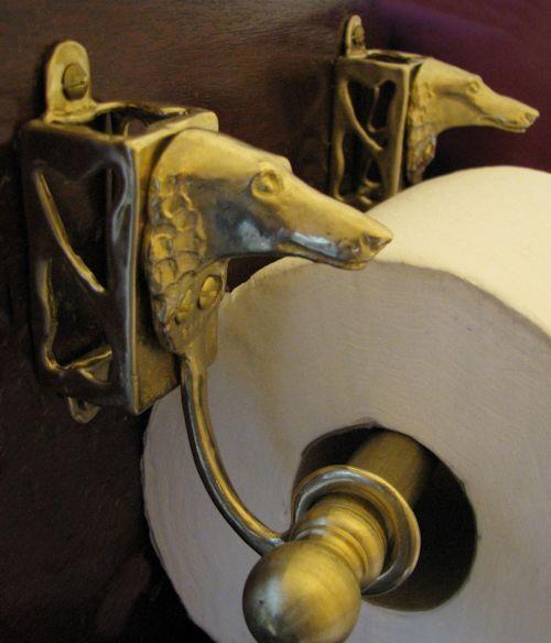 BORZOI Bronze Toilet Paper Holder OR Paper Towel Holder!