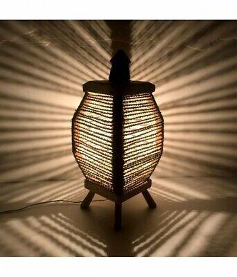 Arredamento Etnico Abat Jour Abajour Lampada Lanterna Vimini Legno 1510191003