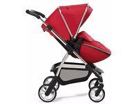 Silver Cross Wayfarer Pram with Red Hood and Apron