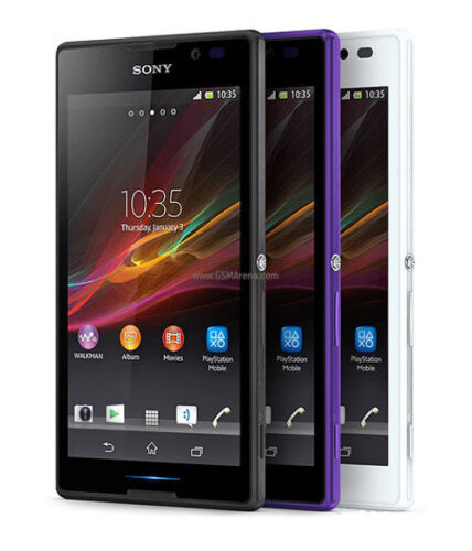 SELLER REFURBISHED ORIGINAL SONY XPERIA C HSPA+ C2305 GSM 4GB FACTORY UNLOCKED SMART ANDROID PHONE