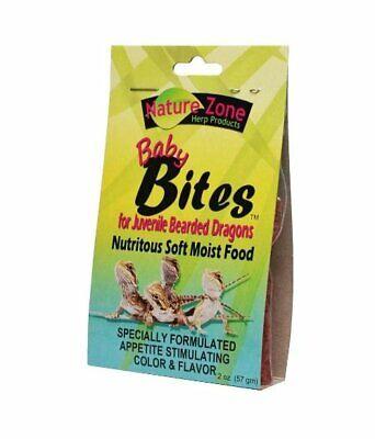 Nature Zone Juvenile Bearded Dragon Baby Bites Nutritious Soft Moist Food 2oz