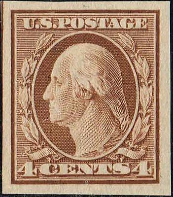 #346 1909 4 CENT IMPERF ISSUE MINT-OG/H--VF/XF