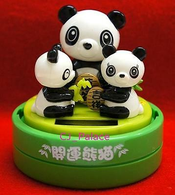 Nohohon Flip Flap Solar Powered Panda Family Bobble Head Toys