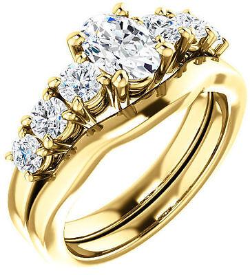 GIA cert 1.01 carat Oval shape Diamond Engagement Wedding 14k Yellow Gold G VS1