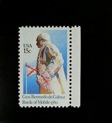 1980 15C General Bernardo De Galvez  Battle Of Mobile Scott 1826 Mint F Vf Nh