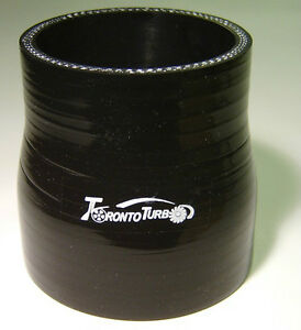 2.25 inch to 2.5 inch Silicone Reducer Black