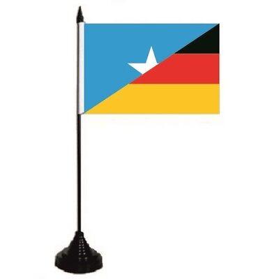 Tischflagge Somalia-Deutschland Tischfahne Fahne Flagge 10 x 15 cm