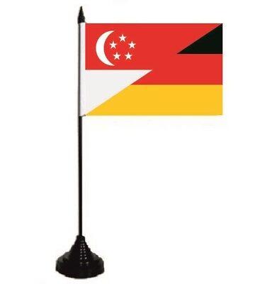 Tischflagge Singapur-Deutschland Tischfahne Fahne Flagge 10 x 15 cm