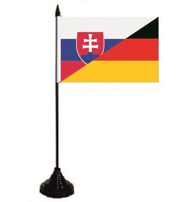 Tischflagge Slowakei-Deutschland Tischfahne Fahne Flagge 10 x 15 cm