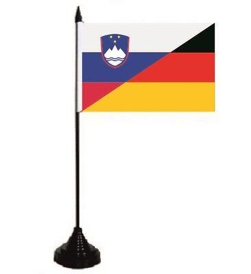 Tischflagge Slowenien-Deutschland Tischfahne Fahne Flagge 10 x 15 cm