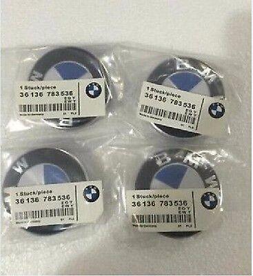 4Pcs Genuine BMW Emblem Logo Badge Hub Wheel Rim Center Cap 68mm Set of 4 grey