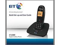 BT 1000 Digital Cordless Telephone, Single DECT