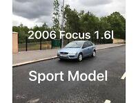 £1150 2006 Ford Focus Sport 1.6* like astra, golf, megane, 307, civic, A3, A4, fiesta punto