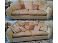 Reduced for quick sale!!! DFS Sofa, Chair & Footstool
