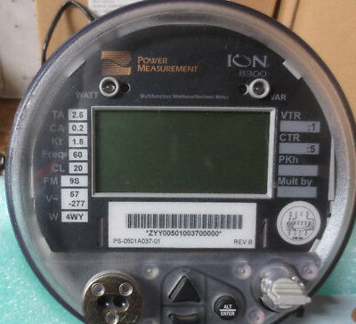 Square D Power Logic Ion 8300 Multifunction Watthourvarhour Meter Sd8650