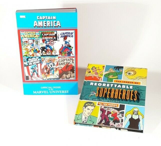 Book Lot! League of Regrettable Superheroes & Captain America Official Index