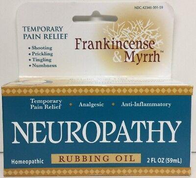 New  Frankincense And Myrrh Neuropathy Rubbing Oil   2 Fl Oz