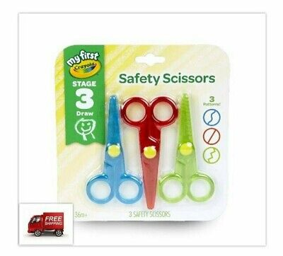 My First Safety Scissors Toddler Art Supplies 3ct Perfect For Arts And - Toddler Art Supplies