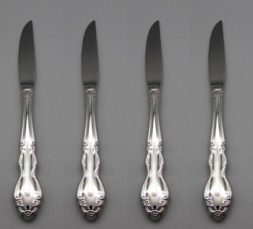 Oneida Stainless Dover (Glossy) Steak Knives - Set of Four New
