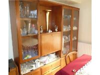 Wall Display unit with central bar Cabinet furniture for sale