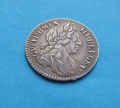 Groat William III 1698 (4d Fourpence) Very Nice Coin Scarce in Grade See Photos