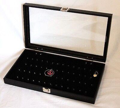 Glass Top 54 Hook Pendantbody Jewelryearring Display Case