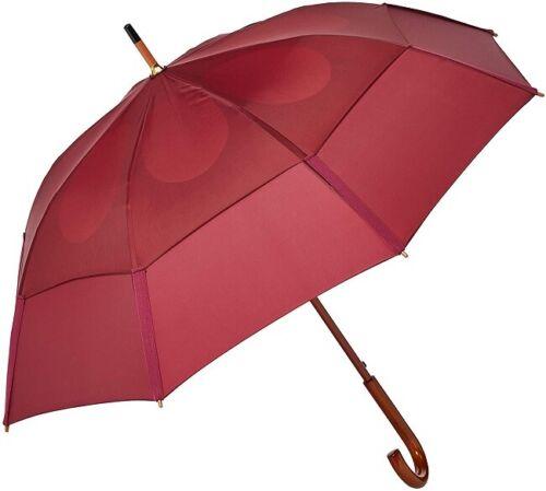 GustBuster Golf Umbrella Automatic Classic Burgundy 48 In. Diameter 36 In. Long