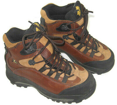 """Golden Retriever Womens Size 9W Wide Waterproof Leather Work 7"""" Boots Safety Toe"""