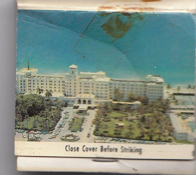 HOLLYWOOD BEACH HOTEL & GULF CLUB FLORIDA MATCHBOOK Vintage