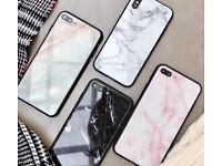 iPhone X Case Marble Design Glass Back