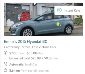 $35/DAY CAR HIRE - FREE $15 DISCOUNT East Victoria Park Victoria Park Area Preview