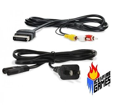 New AV Cable & Power Cord for the Original Microsoft Xbox for sale  Shipping to South Africa