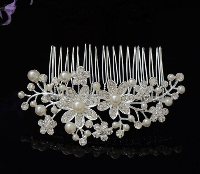 accessoires pour cheveux mariage mari e peigne perle fleur zirconia la t te eur 11 45. Black Bedroom Furniture Sets. Home Design Ideas