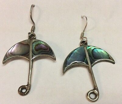 Handcrafted Abalone Umbrella Wire Earrings for sale  Gresham