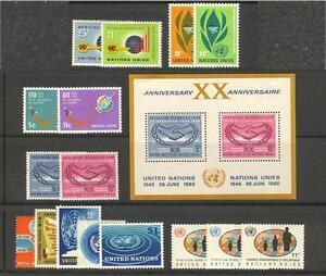 UNITED-NATIONS-NY-U-N-UN-1965-Sets-137-153-MNH